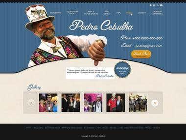 Pedro Cebulka - Personal Website Design Concept