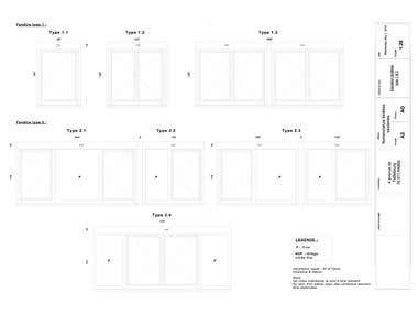 Details drawing of windows for nomenclature /renovation