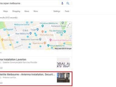 Google Map Ranking