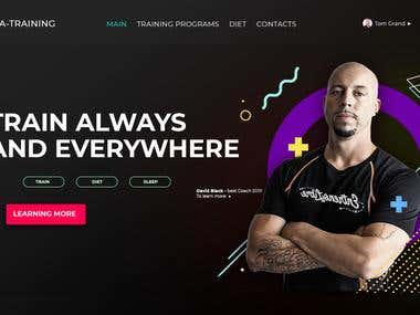 Home page of fitness trainer services