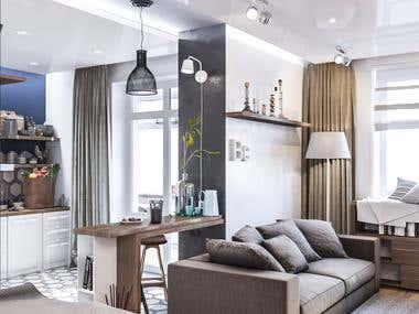 Interior design for single person