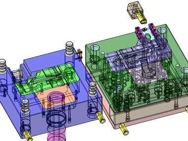 ALUMINUM INJECTION MOLD - CATIA V5R21 / VERO VISI R21
