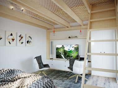 House interior design