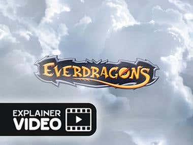 3D intro for blockchain gaming platform ''Everdragons''