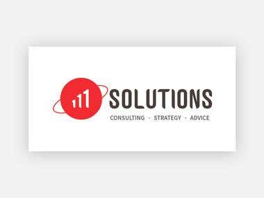 111 Solutions Business Logo