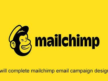 I Will Complete Mailchimp Email Campaign Design Newsletter T