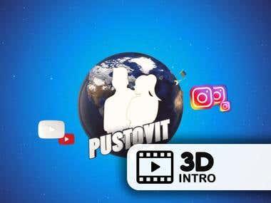 Animated Intro for videobloger PUSTOVIT