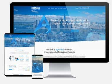 Adoku.ca - Marketing Agency Website
