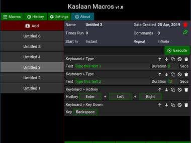 Kaslaan Macros (Under Development)