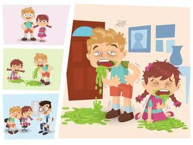 Illustration Sick Kids