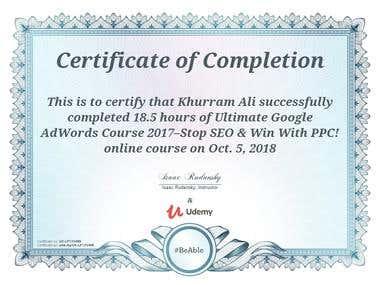 Ultimate Google Adwords Certification Udemy