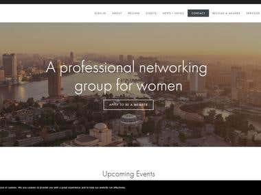 Web site design and development.