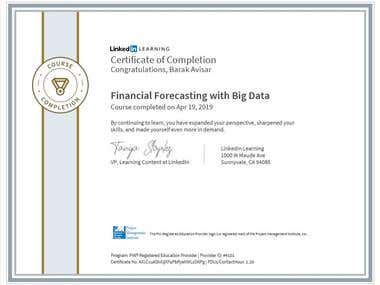 Certification - Financial Forecasting with Big Data