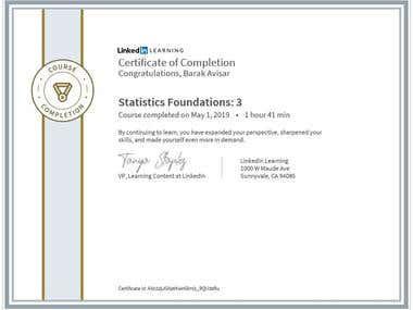 Certification - Statistics Courses