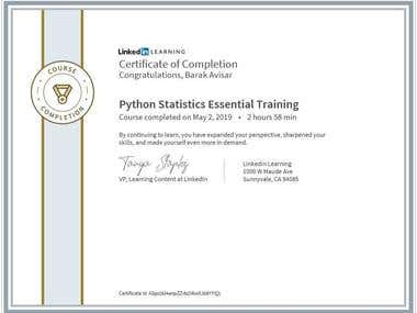 Certification - Python Statistics