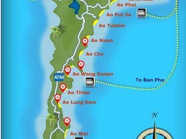 """Creating """"Koh Samet map"""" using powerpoint"""