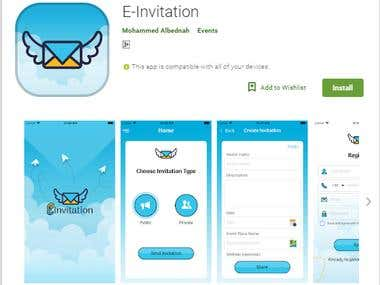 E-Invitation Application