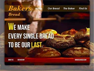 Bakery Web design concept