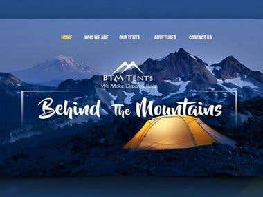 Hiking web design