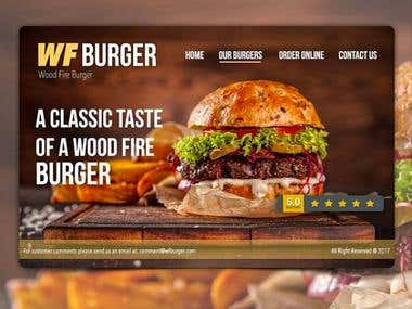 Burger House Webdesign