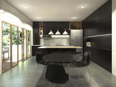 Interior Design of a two storey residential building