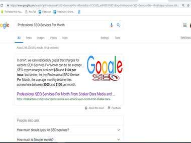 SEO for Websites. You can Search in Google keywords