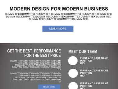 WEB TEMPLATES PSD DESIGN