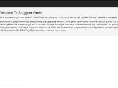 Blogging Project in Core PHP