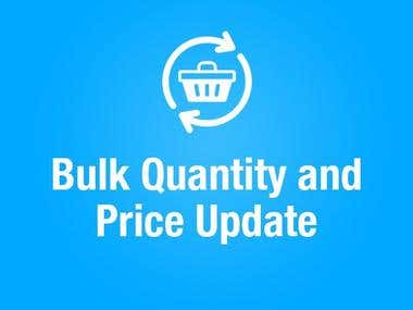 Bulk Quantity and Price Update