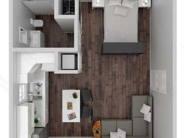 3D Realistic Floor plan