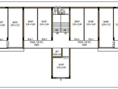 2D PLAN OF A COMMERCIAL PROJECT