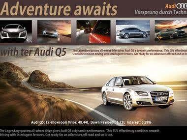 Car advertisement Drink advertising 3d modeling 2d Backgroun
