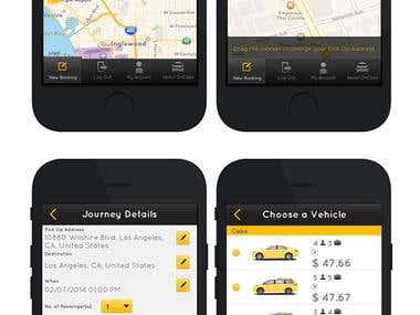 Taxi booking application like Uber