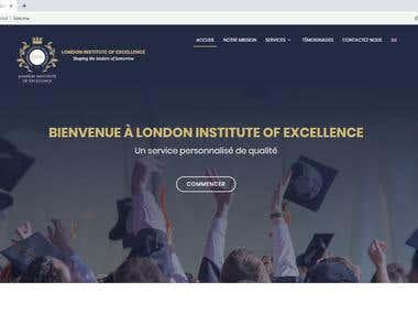 Web site for private school