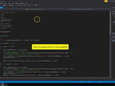 Menu Design in C#