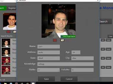 Face Recognition Frontend and Backend