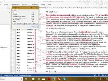 Proofreading & Editing Journal Article on Pharmacology
