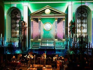 Projection mapping, St Paul Church London