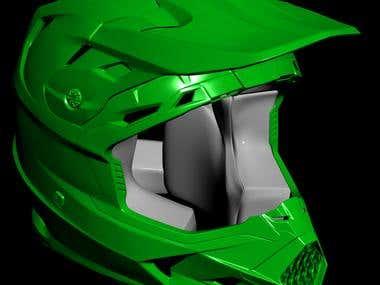 MX vs ATV All out: Fly Racing Toxin Helmet