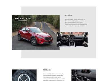 Mazda CX-5 Website design