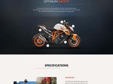 KTM Motorbike Website Design