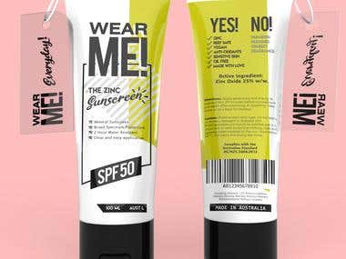 Wear ME, Suncreen Tube Concept Design