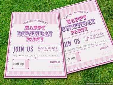 Birthday Card custom design