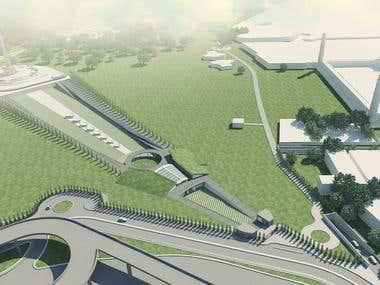 Urban Edge Development, Museum Design, Iqbal Park, Lahore