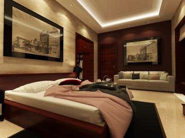 Master Bedroom of a Residence, San Bernardino, California
