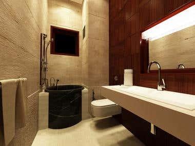 Washroom Design of Residence, San Bernardino, California