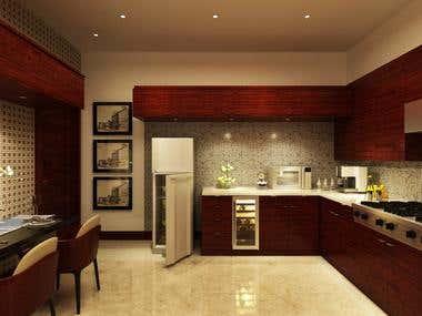 Kitchen Design of Residence, San Bernardino, California