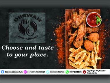 Deewan Restaurant Social Media Banners....