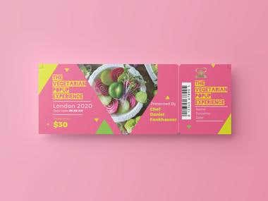 Popup Restaurant Event Ticket Design