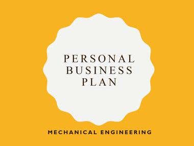 Personal Business Plan for Mechanical Engineer